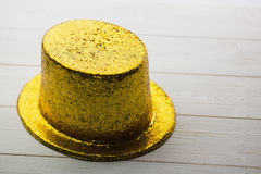 Gold party hat Stock Photo