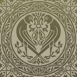 Gold pattern with birds of prey. Royalty Free Stock Photography