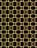 Gold pattern on black background 1 Royalty Free Stock Photo
