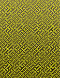 Gold Pattern on Black Background Stock Image