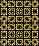 Gold pattern on black background 2. Abstract repeated gold pattern on a black background royalty free illustration