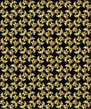 Gold pattern on black background 3. Abstract repeated gold pattern on a black background vector illustration