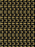Gold pattern on black background 4. Abstract repeated gold pattern on a black background stock illustration