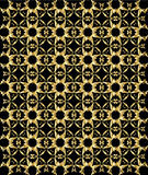 Gold pattern on black background 5 Royalty Free Stock Photos