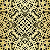 Gold pattern on black - crossed vector lines Royalty Free Stock Photography