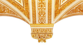 Gold pattern, the border in a white background Royalty Free Stock Image