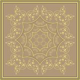 Gold pattern on a bronze background Royalty Free Stock Photography
