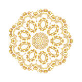 Gold pattern for the cards,  invitations, book page decoration Stock Photos
