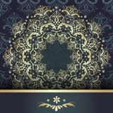 Gold pattern on a dark Stock Photos