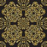 Gold pattern manadala Royalty Free Stock Photos