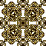 Gold pattern manadala Royalty Free Stock Photo