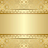 Gold vector pattern with ornament and gradient Royalty Free Stock Photo