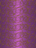 Gold pattern on the purple stock image