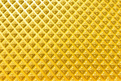 Gold pattern on wall Stock Photo
