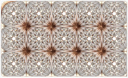 Gold pattern on the white background. Gold moldings tiles on the white background. Abstrack luxury pattern. 3d rendering. 3d illustration Royalty Free Stock Images