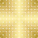 Gold vector pattern with white ornament Stock Photography