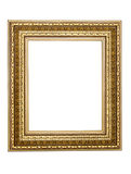 Gold-patterned frame for a picture Royalty Free Stock Image