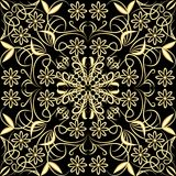 Gold patterned grid Royalty Free Stock Image