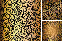 Gold patterns Royalty Free Stock Photos