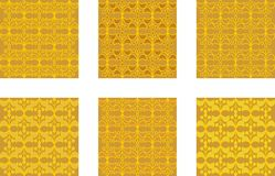 Gold patterns in brocade design Royalty Free Stock Photography
