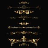 Gold patterns Royalty Free Stock Image