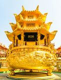 Gold Pavilion. In Thailand royalty free stock images
