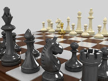 Gold pawn 3 Royalty Free Stock Image