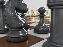 Gold pawn 6 Stock Images