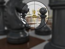 Gold pawn 5 Royalty Free Stock Photos