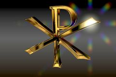 Gold Pax Christi Symbol Royalty Free Stock Images
