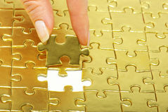 Gold pazles Stock Photography