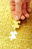 Gold pazles Stock Photo