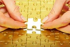 Gold pazles Royalty Free Stock Photo