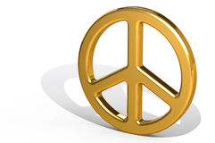 Gold Peace Sign Stock Image