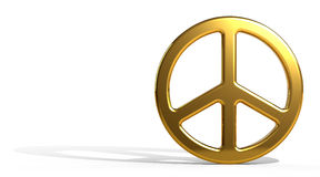 Gold Peace Sign Royalty Free Stock Image