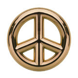 Gold Peace Sign Stock Photo
