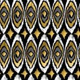 Gold peacock retro tribal boho pattern background Royalty Free Stock Photography