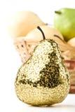 Gold pear Royalty Free Stock Photos