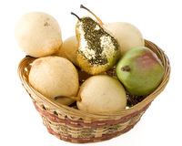 Gold pear Stock Photos