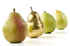 Gold pear Stock Image