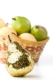 Gold pear Royalty Free Stock Images