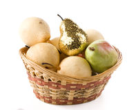 Gold pear Royalty Free Stock Photo