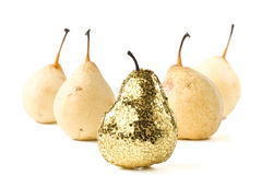 Gold pear Stock Photo