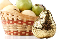 Gold pear Stock Photos