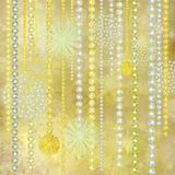 Gold and Pearl Christmas Decorations Background. Gold and Pearl Christmas Decorations Textured Background royalty free illustration