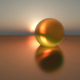 Gold Pearl Surreal Stock Photography
