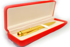 The gold pen Royalty Free Stock Photography