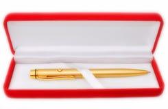 The gold pen Stock Photo