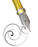 Gold pen Stock Photography