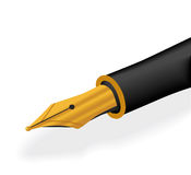 Gold pen Stock Images